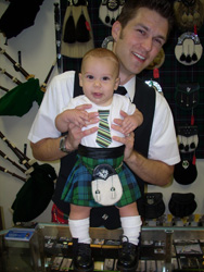 Baby McClanathan in his first kilt 2009