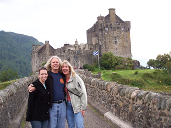 The McClanathan's at Eilean Donan Castle, Scottish Highlands.